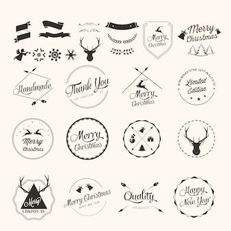 Weihnachts-etiketten gesetzt