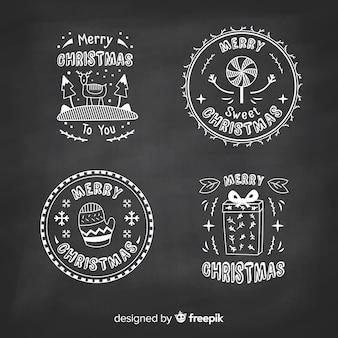 Weihnachts-etiketten-sammlung