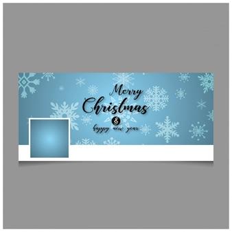 Weihnachts-facebook-cover mit kreativer typografie