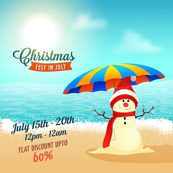 Weihnachts größter verkauf im juli poster.