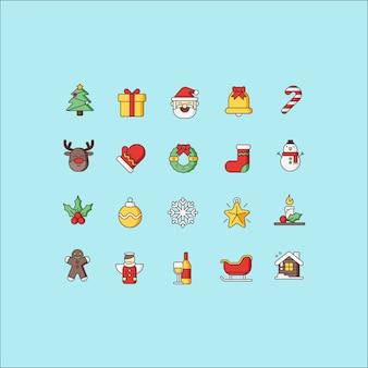 Weihnachts-icon-paket