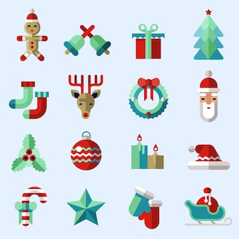 Weihnachts-icons sammlung