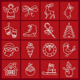 Weihnachts-icons