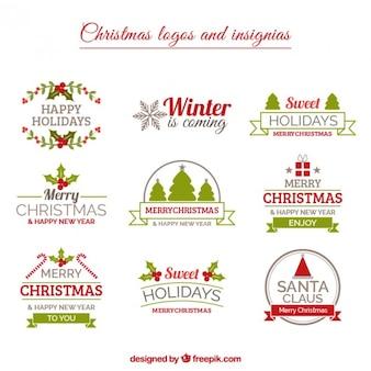 Weihnachts insignias sammlung