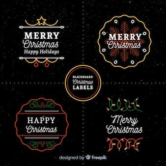 Weihnachts-label-kollektion
