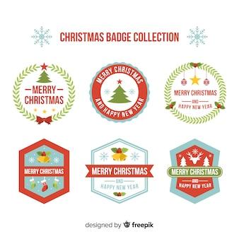 Weihnachts-label-sammlung