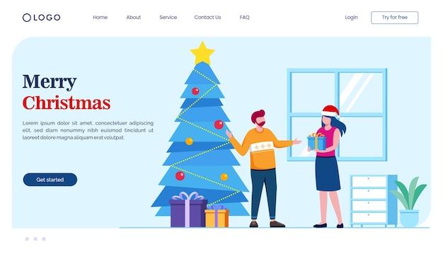 Weihnachts-landingpage-konzept