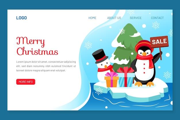 Weihnachts-landingpage-vorlage