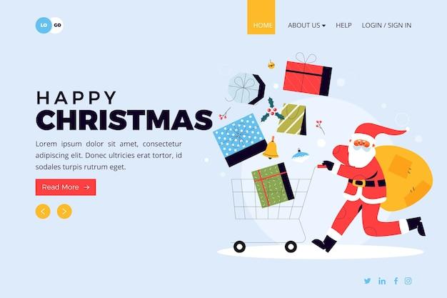Weihnachts-landingpage