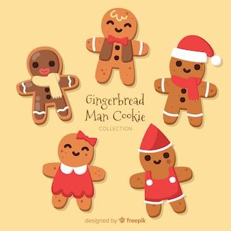 Weihnachts-lebkuchen-mann-sammlung
