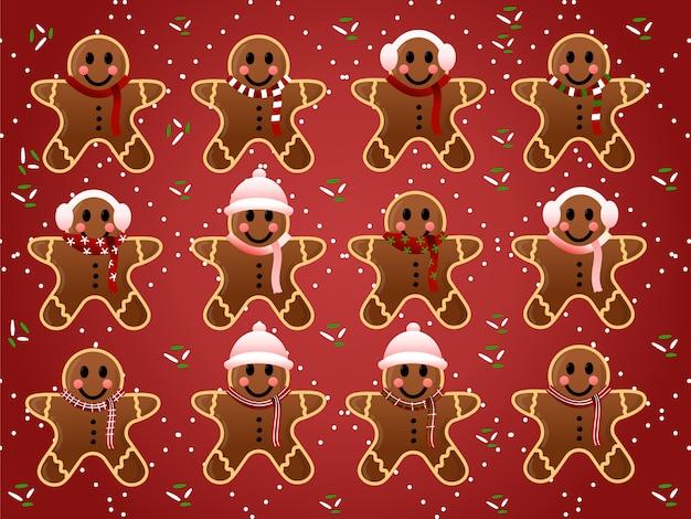 Weihnachts-lebkuchen-sammlung
