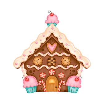Weihnachts lebkuchenhaus