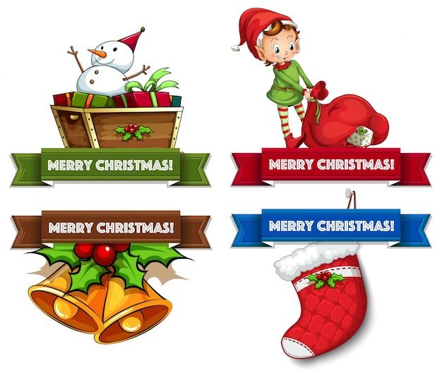 Weihnachts-logos