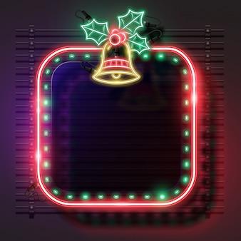 Weihnachts neon banner gesetzt