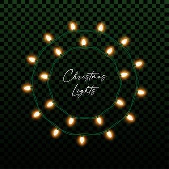 Weihnachts- oder neujahrsdekor mit glühbirnengirlande