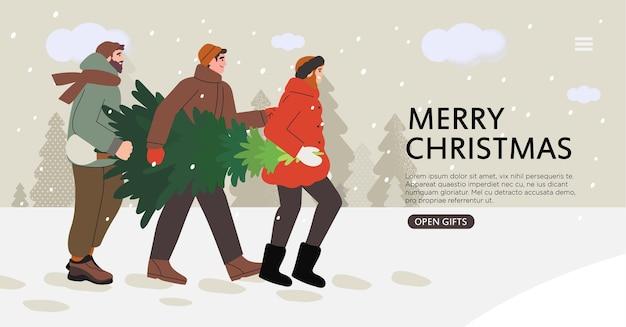 Weihnachts- oder neujahrsmarktmesse-banner.