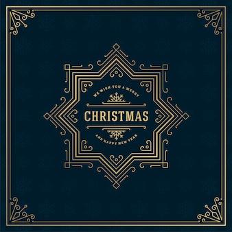 Weihnachts retro retro typografie zitat und schneeflocken muster hintergrund vektor-illustration