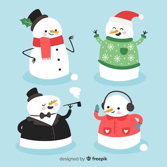 Weihnachts-schneemann-packung