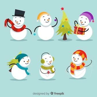 Weihnachts-schneemann-sammlung