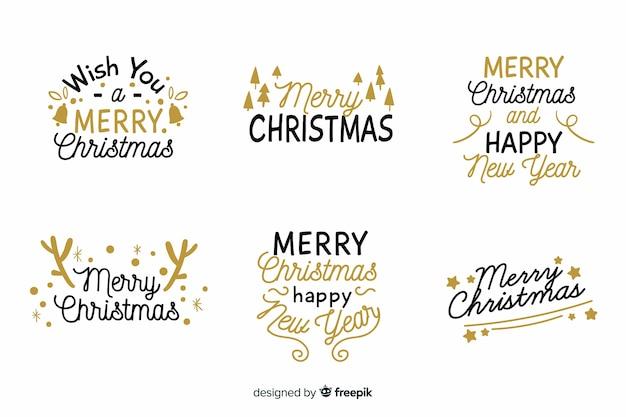 Weihnachts-schriftzug-abzeichen-auflistung