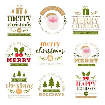Weihnachts-schriftzug abzeichen sammlung