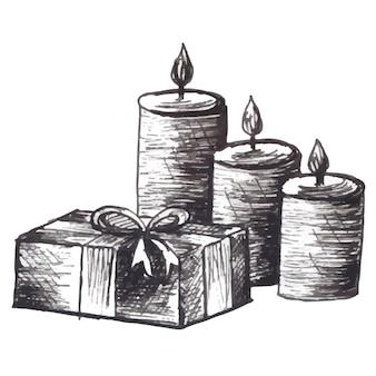 Weihnachts-schwarzweiß-elemente-hintergrund