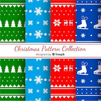 Weihnachts-silhouetten-muster-kollektion