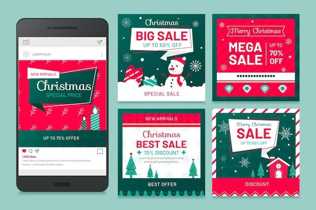 Weihnachts-social-media-beiträge