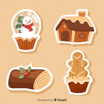 Weihnachts-sticker-pack