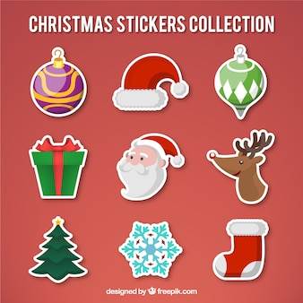 Weihnachts stikers sammlung