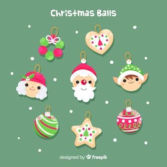 Weihnachts süße bälle packen