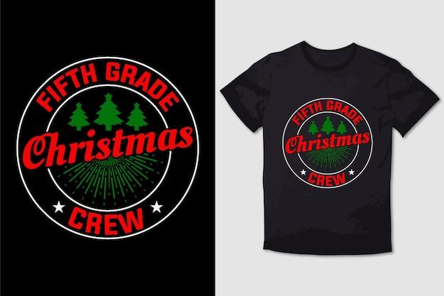 Weihnachts-t-shirt design fünfte klasse weihnachtscrew
