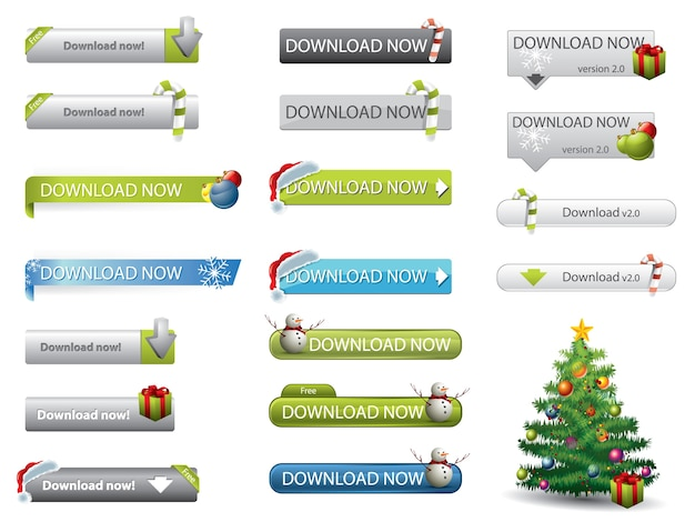 Weihnachts-theme-website-download-buttons