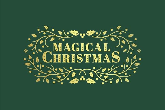 Weihnachts-typografie-handbeschriftungsgrafik