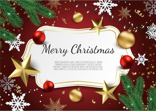 Weihnachts- und des neuen jahreshintergrund, weihnachtskarte