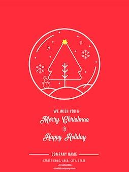 Weihnachts-und feiertags-flieger-einladungs-gruß-karte