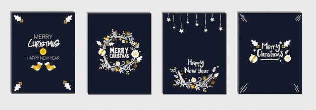 Weihnachts- und neujahrs-vorlagen-karte