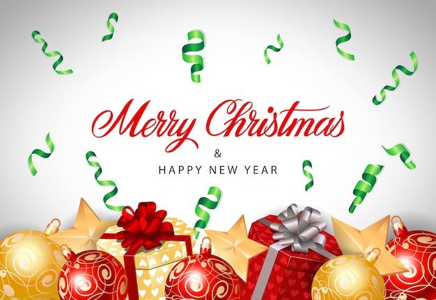 Weihnachts- und neujahrsbeschriftung