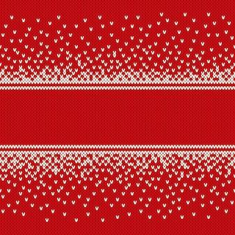 Weihnachts- und neujahrsdesign gestrickter hintergrund mit einem platz für text. strickpullover design. wollstrick textur imitation