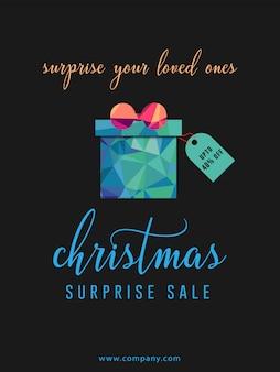 Weihnachts- und neujahrsgeschenk sale banner flyer