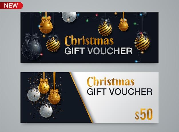 Weihnachts- und neujahrsgeschenkgutschein
