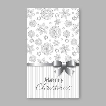 Weihnachts- und neujahrsgruß, einladungskarte. weiße und graue farben, dekorativer vintage-stil. vektor-illustration.