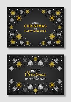 Weihnachts- und neujahrshintergrund mit schneeflocken