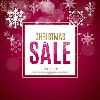 Weihnachts- und neujahrsverkaufshintergrund-rabattgutscheinvorlage