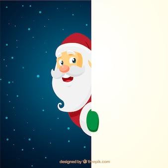 Weihnachts-weihnachtsmann-charakter mit leerem zeichen