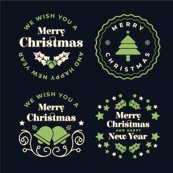 Weihnachtsabzeichen sammlung