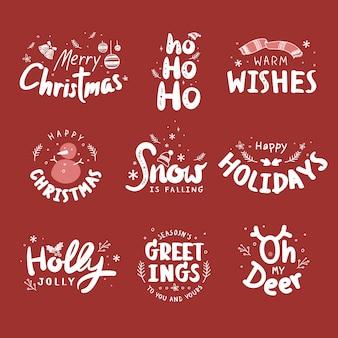 Weihnachtsabzeichen