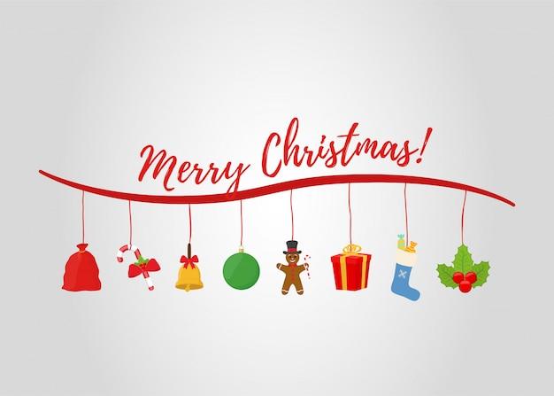 Weihnachtsartikel für werbeplakate, werbebanner oder verkauf