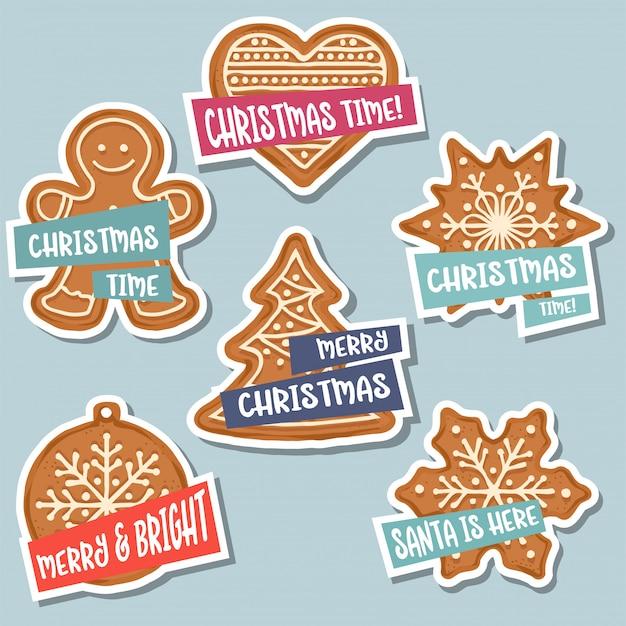 Weihnachtsaufkleber-sammlung