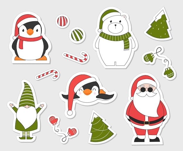 Weihnachtsaufkleber.